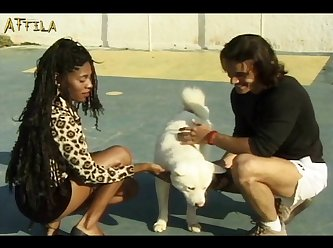 Black Girl And Two Dogs (part 1)