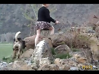 1 A Minx Gets Fucked By Her Dog, In Nature. (part 4)