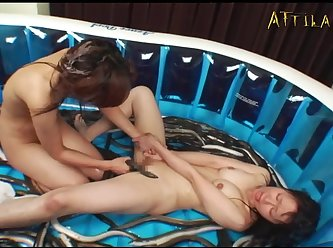 Genki Dgen006 The Fat Eel And The Loach Are Inserted Into The Anus Of A Lewd Lesbian 007